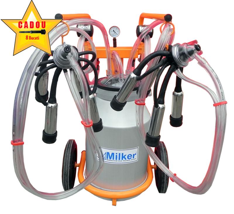 Aparat de muls vaci Milker Economic 2/1 Aluminiu  MILKER E-2/1 AL