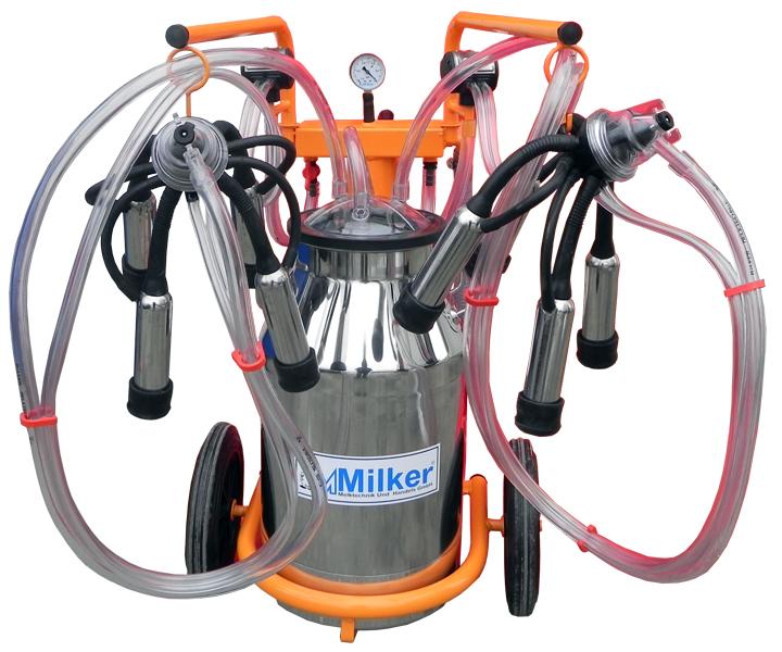 Aparat de muls vaci Milker Economic 2/1 Inox  MILKER E-2/1 INOX