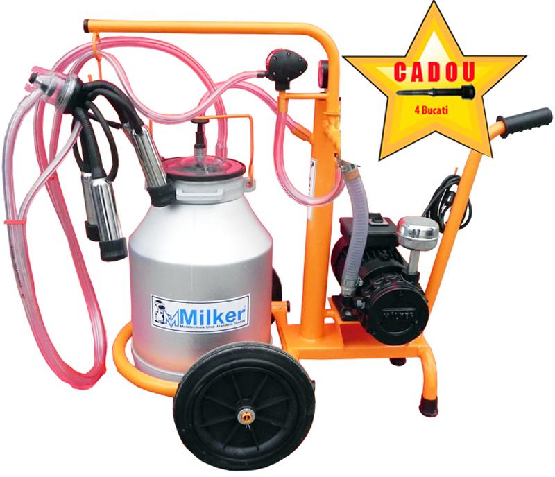 Aparat de muls Milker Economic 1/1 aluminiu  MILKER E-1/1 IALI