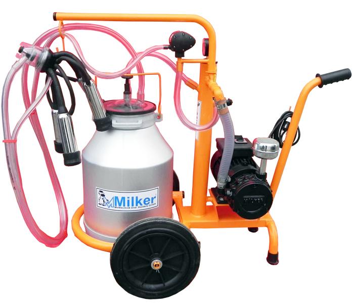 Aparat de muls Milker Economic 1/1 aluminiu  MILKER E-1/1 ALUM