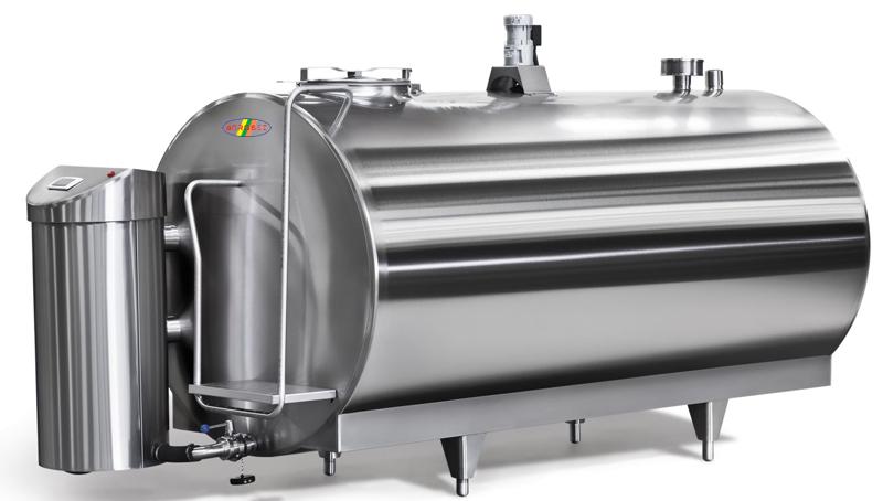 Tanc de racire lapte tip orizontal 1000L-14000L
