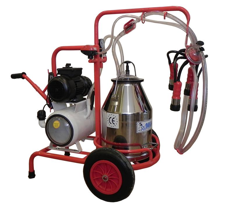 Mulgatoare de vaci Milker 1/1 inox -pompa cu ulei